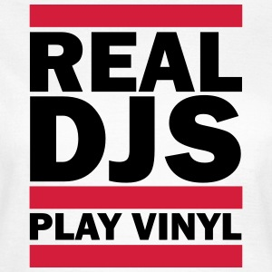 Real DJS PLAY VINYL T-skjorter - T-skjorte for kvinner