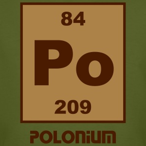 Polonium (Po) (element 84) - Men's Organic T-shirt