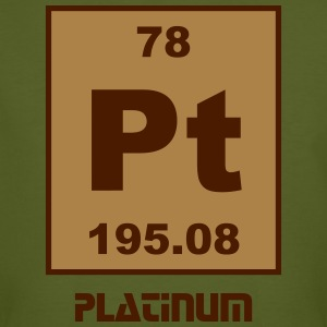Platinum (Pt) (element 78) - Men's Organic T-shirt