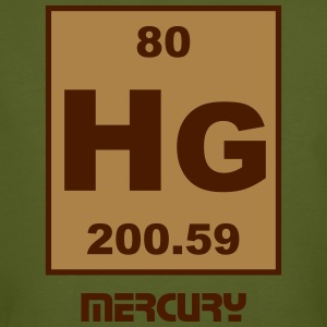 Mercury (Hg) (element 80) - Men's Organic T-shirt