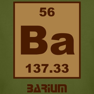 Element 56 - ba (barium) - Short (white) T-skjorter - Økologisk T-skjorte for menn