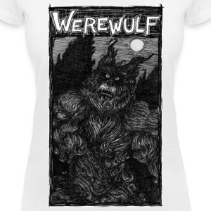 Werewulf, nocturnal hunt. white T-Shirts - Women's V-Neck T-Shirt