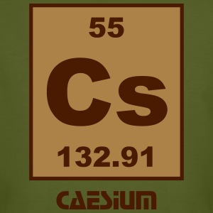 Element 55 - cs (caesium) - Short (white) T-shirts - Mannen Bio-T-shirt