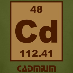 Cadmium (Cd) (element 48) - Men's Organic T-shirt