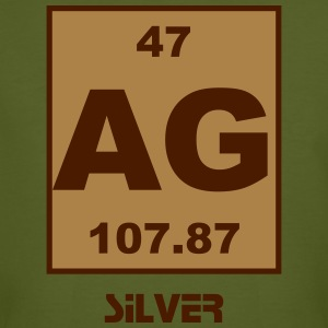 Silver (Ag) (element 47) - Men's Organic T-shirt