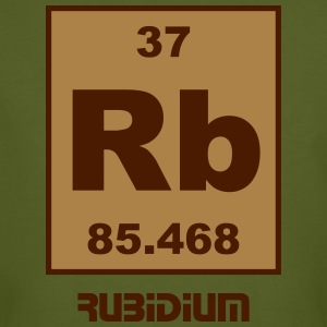Element 37 - rb (rubidium) - Short (white) T-shirts - Mannen Bio-T-shirt