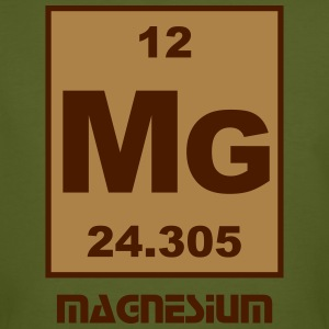 Element 12 - mg (magnesium) - Short (white) T-Shirts - Männer Bio-T-Shirt