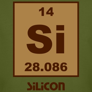 Silicon (Si) (element 14) - Men's Organic T-shirt