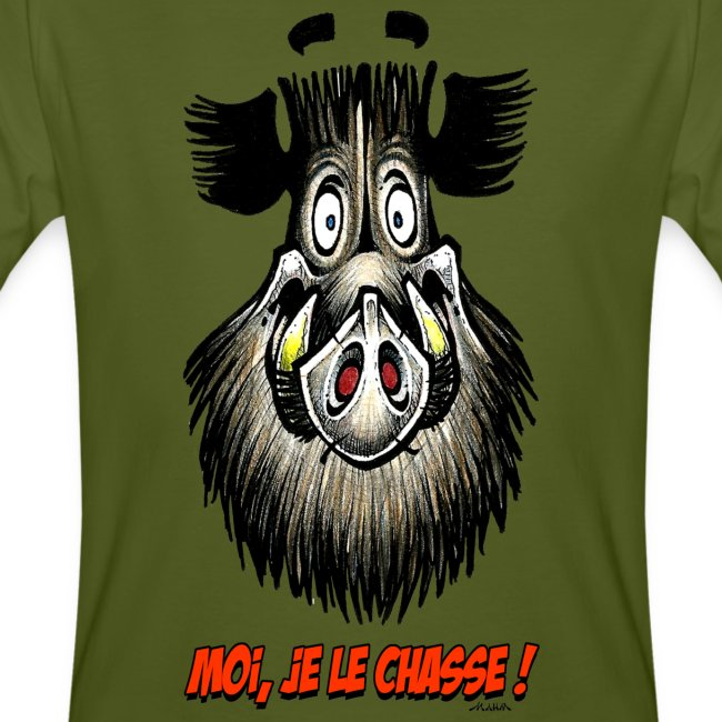 T-Shirt Homme - Moi je le chasse !