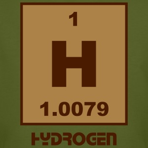 Element 1 - h (hydrogen) - Short (white) T-skjorter - Økologisk T-skjorte for menn