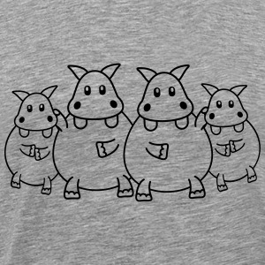 Hippo Family Tee shirts - T-shirt Premium Homme