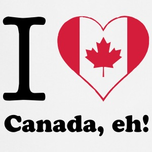 expatfood - I heart Canada  Aprons - Cooking Apron