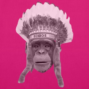 indian headdress monkey Borse & zaini - Borsa ecologica in tessuto