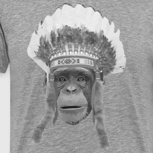 indian headdress monkey T-shirts - Premium-T-shirt herr