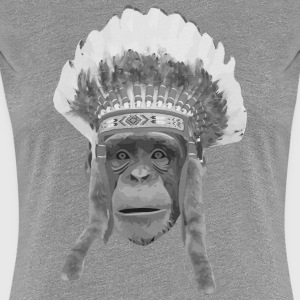 indian headdress monkey T-shirts - Premium-T-shirt dam