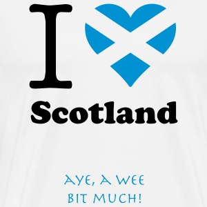 expatfood - I heart Scotland T-Shirts - Men's Premium T-Shirt
