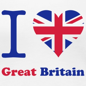 expatfood - I heart Great Britain T-Shirts - Women's Premium T-Shirt