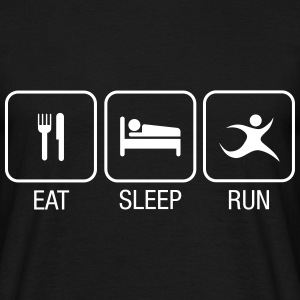 Eat, Sleep, Run T-Shirts - Männer T-Shirt