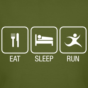 Eat, Sleep, Run T-Shirts - Männer Bio-T-Shirt