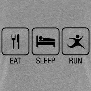 Eat, Sleep, Run T-skjorter - Premium T-skjorte for kvinner