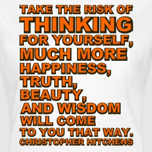Take the Risk - Hitchens   - Women's T-Shirt
