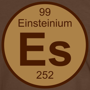 Element 99 - es (einsteinium) - Round (white) T-skjorter - Kontrast-T-skjorte for menn