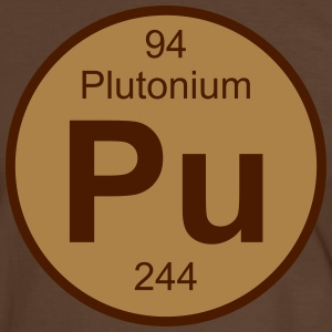 Element 94 - pu (plutonium) - Round (white) T-shirts - Herre kontrast-T-shirt
