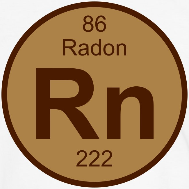 Periodic Table Words Radon Rn Element 86 Full Round 2 Col