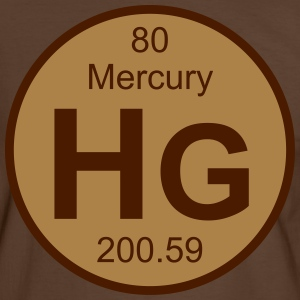 Mercury (Hg) (element 80) - Men's Ringer Shirt