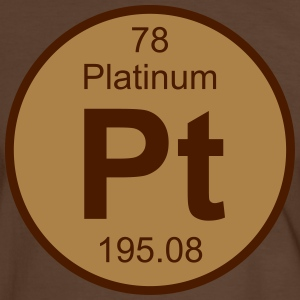 Platinum (Pt) (element 78) - Men's Ringer Shirt