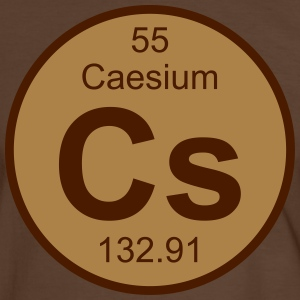 Element 55 - cs (caesium) - Round (white) T-shirts - Mannen contrastshirt