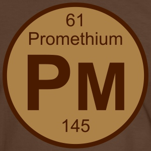 Promethium (Pm) (element 61) - Men's Ringer Shirt