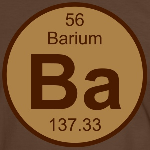 Element 56 - ba (barium) - Round (white) T-shirts - Herre kontrast-T-shirt