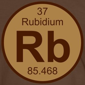 Element 37 - rb (rubidium) - Round (white) T-shirts - Herre kontrast-T-shirt