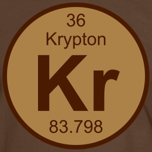 Element 36 - kr (krypton) - Round (white) T-Shirts - Männer Kontrast-T-Shirt