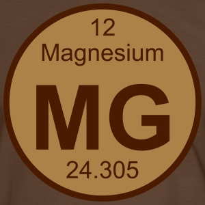 Element 12 - mg (magnesium) - Round (white) T-Shirts - Männer Kontrast-T-Shirt