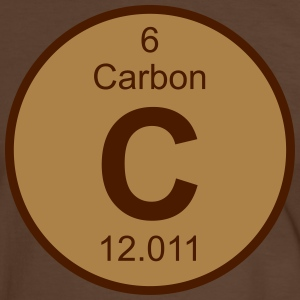 Element 6 - c (carbon) - Round (white) T-shirts - Herre kontrast-T-shirt