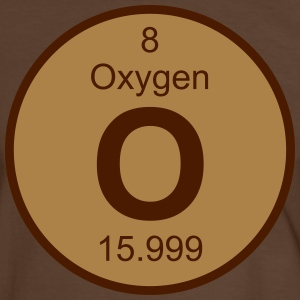 Element 8 - o (oxygen) - Round (white) T-skjorter - Kontrast-T-skjorte for menn