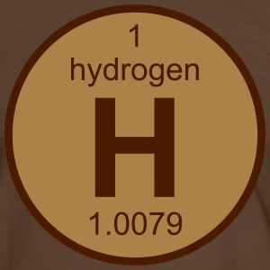 Hydrogen (H) (element 1) - Men's Ringer Shirt