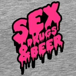 Sex Drugs & Beer Graffiti T-skjorter - Premium T-skjorte for menn
