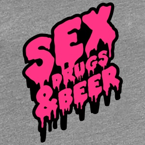 Sex Drugs & Beer Graffiti T-Shirts - Frauen Premium T-Shirt