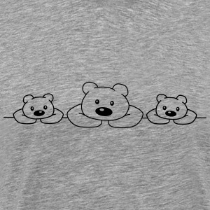 3 Bears T-Shirts - Men's Premium T-Shirt