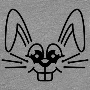 Funny Bunny Face T-shirts - Dame premium T-shirt