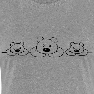 3 Bears T-Shirts - Frauen Premium T-Shirt