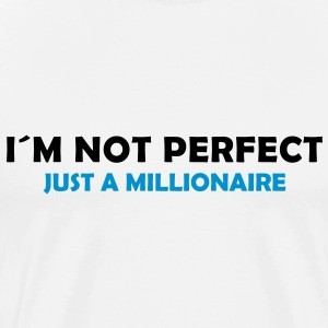 I´m not perfect just a millionaire - Männer Premium T-Shirt