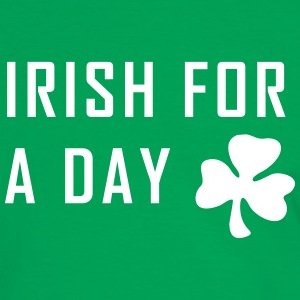 irish for a day st. patrick´s day T-Shirts - Männer Kontrast-T-Shirt