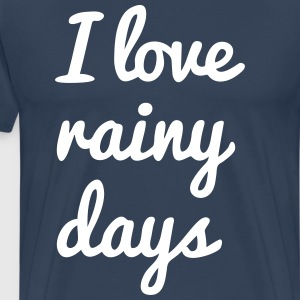 i love rainy days T-Shirts - Men's Premium T-Shirt