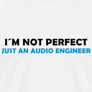 i´m not perfect - just an audio engineer - Männer Premium T-Shirt
