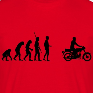 Evolution Simson knallert  T-shirts - Herre-T-shirt