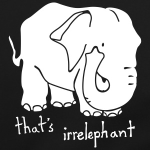 Irrelephant pun bag - Shoulder Bag